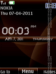 Nokia Choco Digital theme screenshot