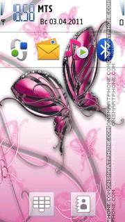 Скриншот темы Butterfly Theme 03