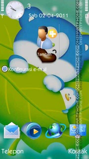Blue Bear tema screenshot