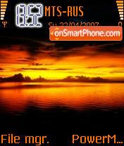 Sunset 01 es el tema de pantalla