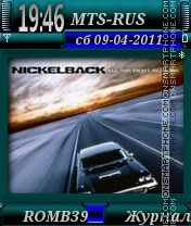 Nickelback By ROMB39 theme screenshot