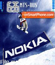 Скриншот темы Snowboarding 01