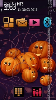 Pumpkins 01 theme screenshot