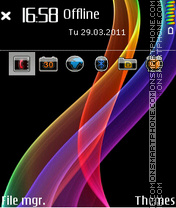 Metal Rainbow 01 theme screenshot