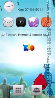 Angry Birds Rio tema screenshot