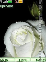 White roses anim theme screenshot