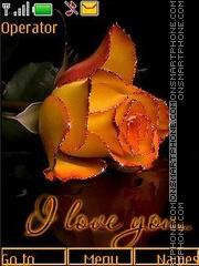 Orange roses anim swf theme screenshot