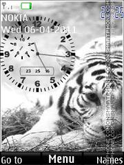 White Tiger 13 tema screenshot
