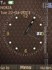 Brown Clock W Icons theme screenshot