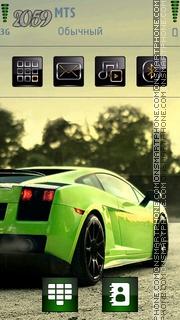 Green Gallardo Theme-Screenshot