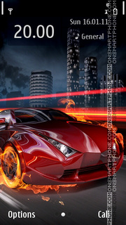 Fire Car 06 theme screenshot