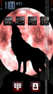 Red Moon Wolf tema screenshot