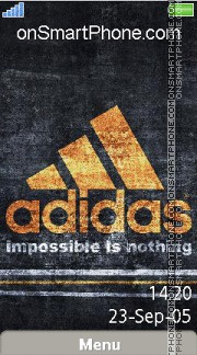 Adidas 50 theme screenshot