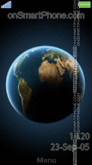 Globe Earth theme screenshot