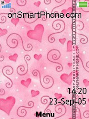 Pink Hearts 04 es el tema de pantalla