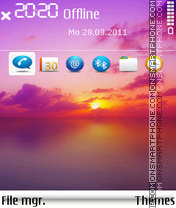 Sunsetfull tema screenshot