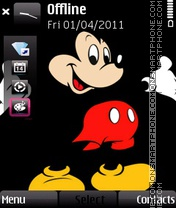 Micky mouse theme screenshot