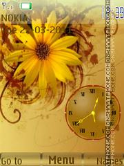 Flower Yellow Clock theme screenshot