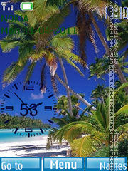 Beach Clock 04 tema screenshot
