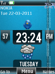 Weather Clock theme screenshot