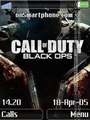 Black ops 240x320 theme screenshot