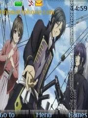Скриншот темы Hakuouki Hekketsu-roku