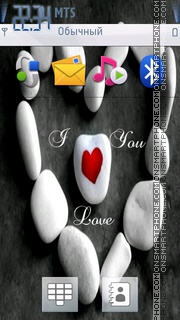Htc I Love You tema screenshot