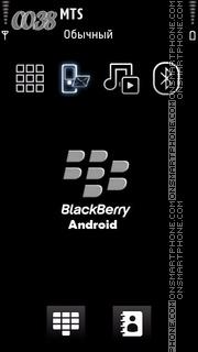 Blackberry Android es el tema de pantalla