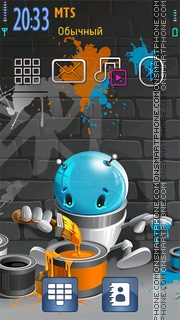 Graffiti 14 theme screenshot