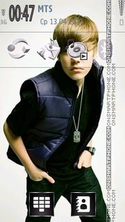 Скриншот темы Justin Bieber 03