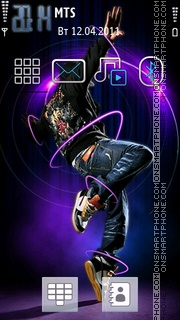 Dance For Music theme screenshot