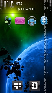 Planet Blue V1 theme screenshot