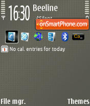 Dots Grey v2 240x320 es el tema de pantalla
