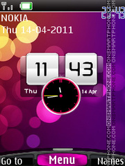 Htc Dual Clock theme screenshot
