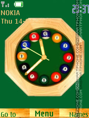 Billiard Clock theme screenshot