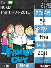 Family Guy Swf theme screenshot