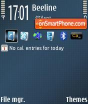 Dots Blue theme screenshot