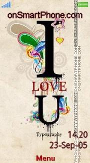 I Love U 12 es el tema de pantalla