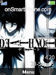 Capture d'écran L Death Note 01 thème