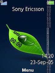 Leaf Clock 03 theme screenshot