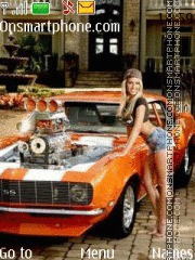 Скриншот темы Chevrolet Camaro SS 1969 and Girl