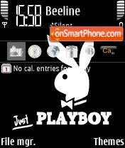 Скриншот темы Playboy Black