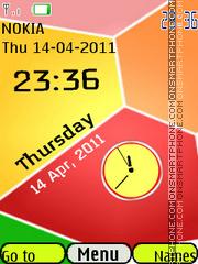 3d Blocks Clock theme screenshot