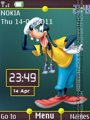 Cartoon Goofy Design Clock theme screenshot
