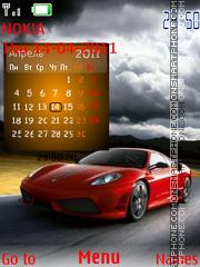 Ferrari Calender Swf theme screenshot