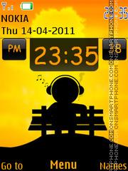 Скриншот темы Music Mania Clock