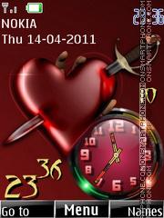 Love Dual Clock 03 Theme-Screenshot
