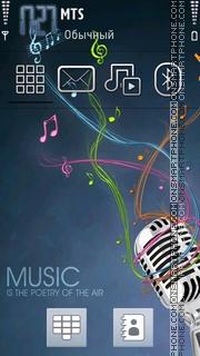 Music 5325 es el tema de pantalla