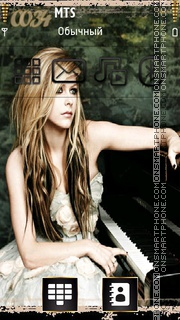 Avril Lavigne 13 theme screenshot