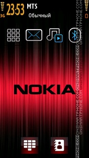 Nokia Red Dark theme screenshot